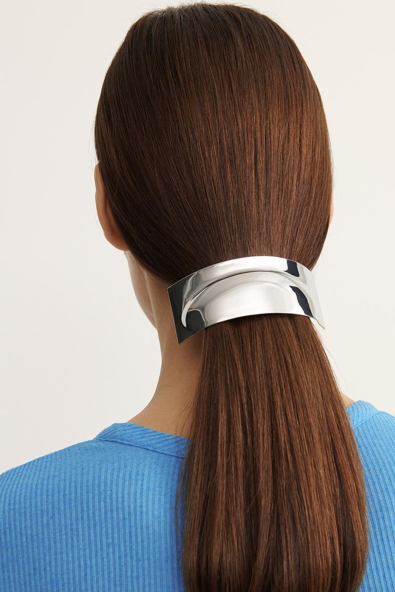 COS Spring Summer 2020 Collection Lookbook Metal Hair Barrette Silver