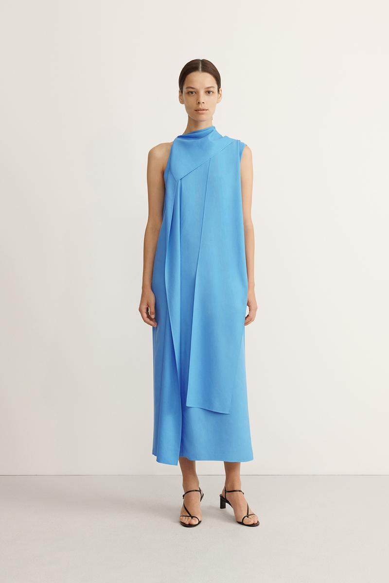 COS Spring Summer 2020 Collection Lookbook Silk Dress Cyan