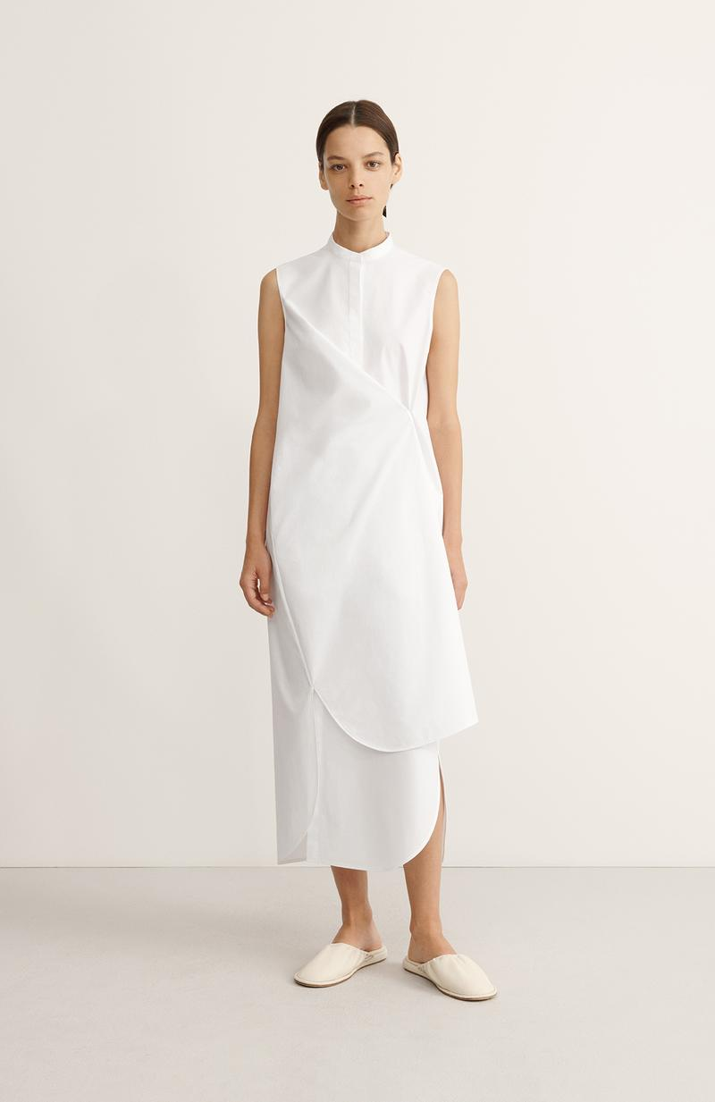 COS Spring Summer 2020 Collection Lookbook Cotton Shirt Dress Optic White