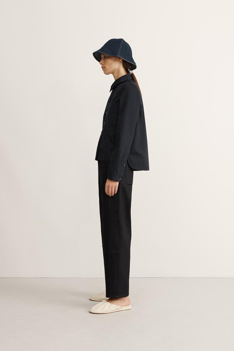 COS Spring Summer 2020 Collection Lookbook Cotton Utility Shirt Denim Trousers Denim Bucket Hat Indigo