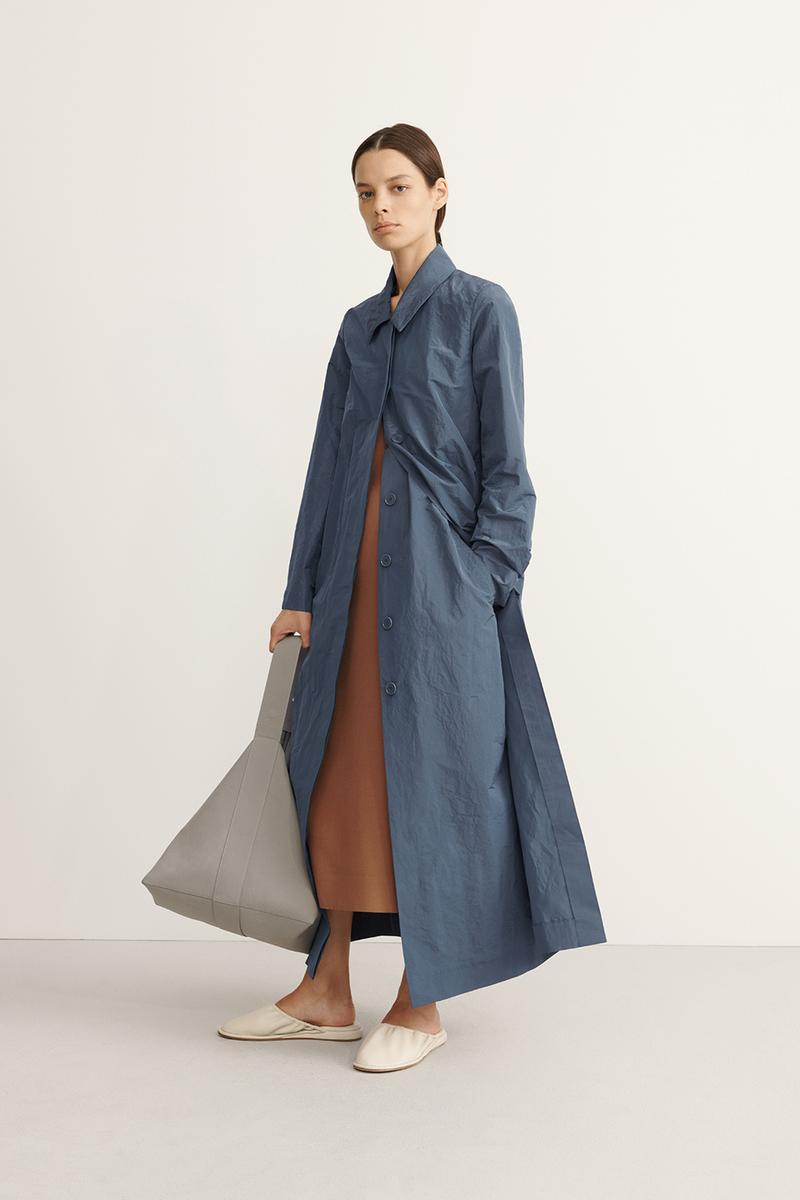 COS Spring Summer 2020 Collection Lookbook Mac Trench Coat Steel Blue