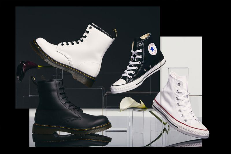 footaction gender neutral dr. martens 1460 8-eye boot converse all star hi lookbook