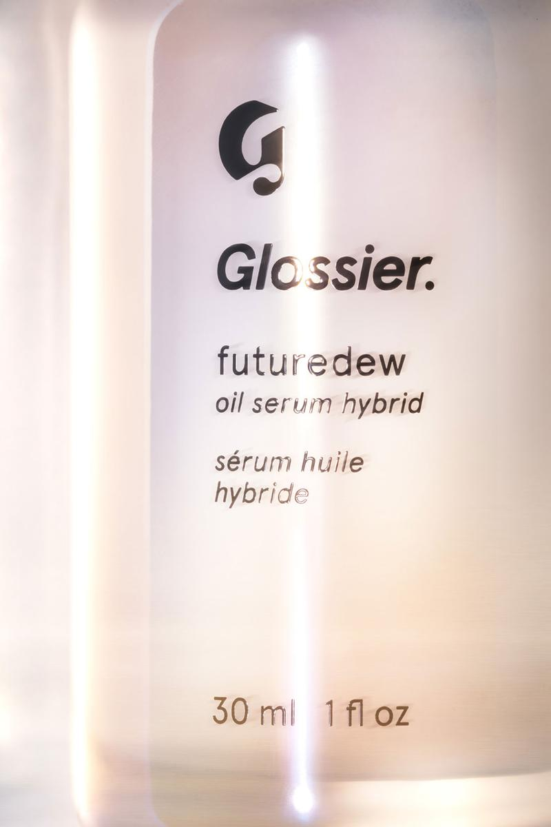 glossier futuredew oil serum hybrid skincare cruelty free plant based vegan pink bottle