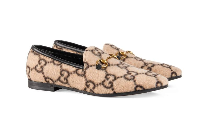 gucci towards winter collection monogram mule shoes beige brown bag backback gg logo