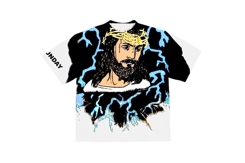 Kanye West Jesus Is King Merch AWGE Lightening T-Shirt White