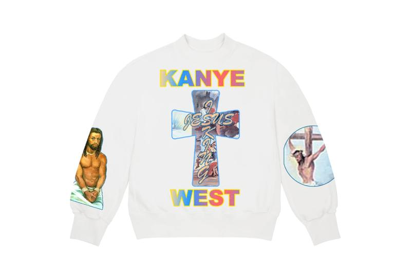 Kanye West Jesus Is King Merch AWGE Cross Crewneck II White