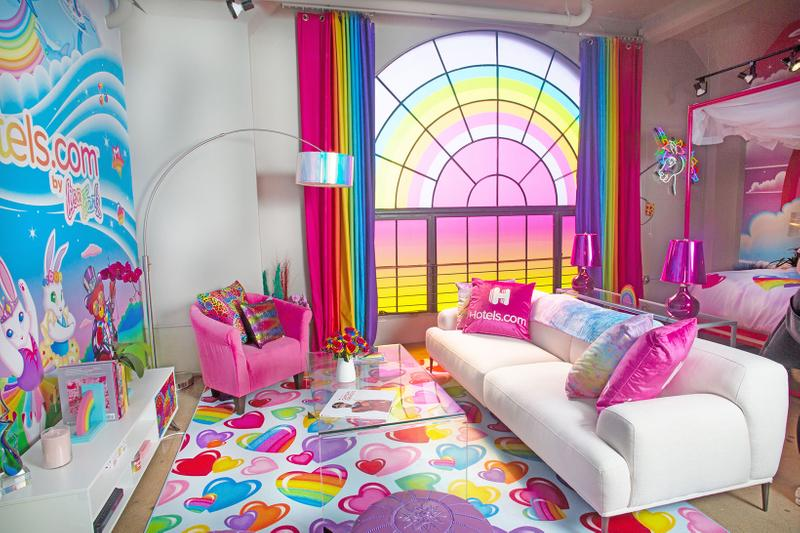 lisa frank hotels com apartment flat room stuff toys furniture couch table lamp rainbow
