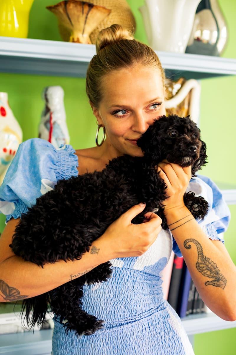 Marie Jedig Copenhagen Denmark Danish Fashion Style Influencer Home Blonde Hair Dog Olga