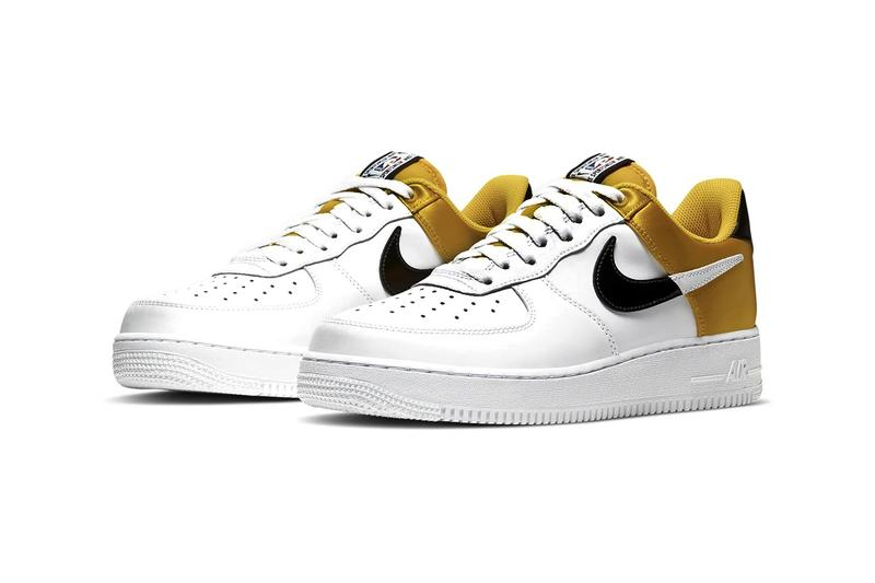 Nike Air Force 1 NBA Sneaker Release Colorways Red Yellow Canary Black Basketball inspired Sneaker Footwear Shoe Trainer Satin