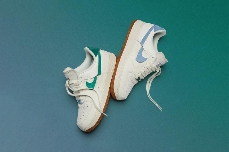 nike air force 1 07 lxx deconstructed womens sneakers green light blue white shoes footwear sneakerhead