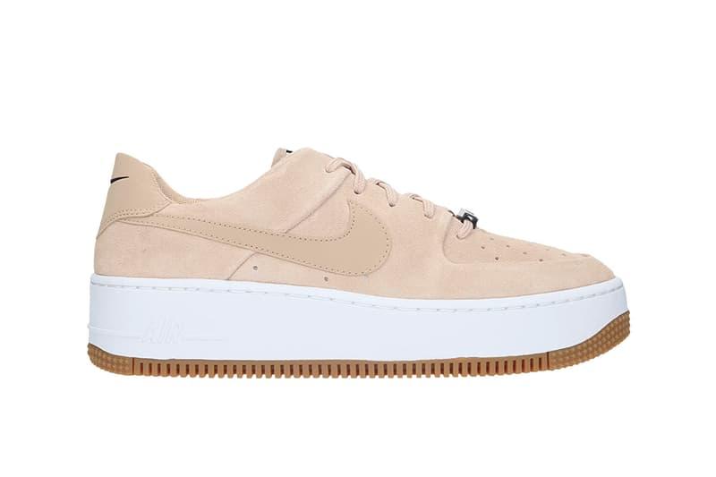 "Nike Air Force 1 ""Bio Beige"" Sneaker Release Suede Pastel White Platform Sole Trainer Footwear Fall Winter"