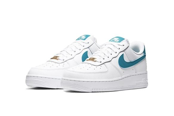 """Nike Air Force 1 """"Teal Nebula"""" Sneaker Trainer White Blue Fall Footwear Turquoise Classic Silhouette"""
