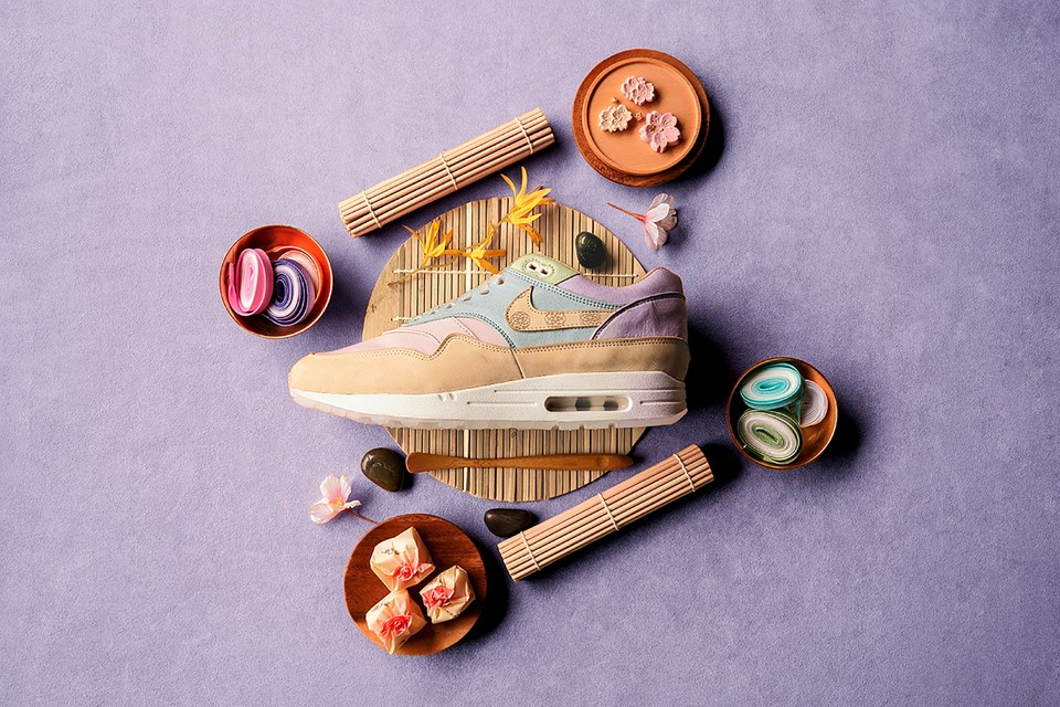 "Nike's Latest Air Max 1 Design Takes Inspiration from ""Wagashi"" – Traditional Japanese Sweets"