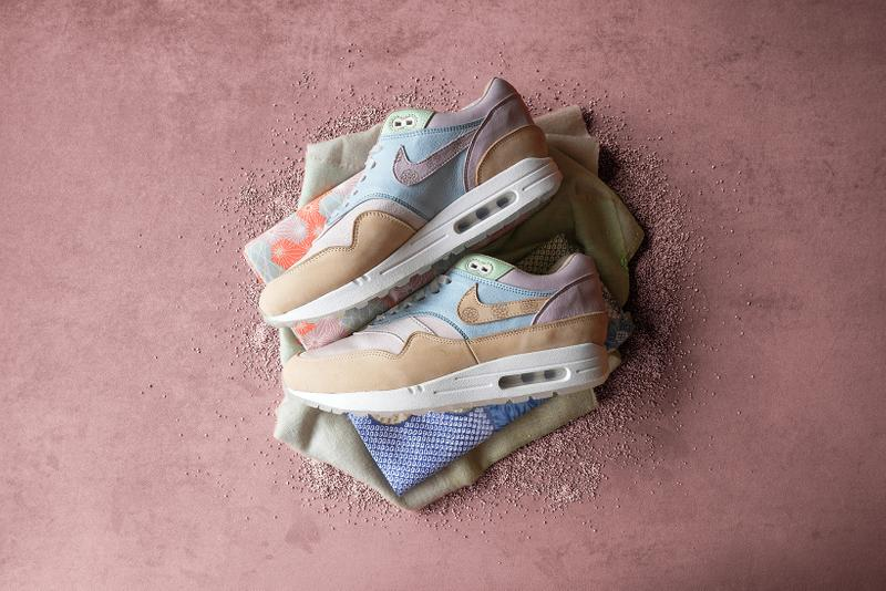 nike air max 1 wagashi traditional japanese sweets food ryustyler chase shiel collaboration custom sneakers pastel blue purple green brown shoes sneakerhead footwear