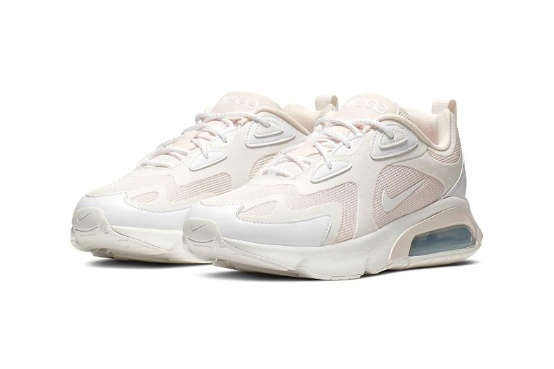 nike air max 200 womens sneakers shoes footwear sneakerhead light soft pink summit white