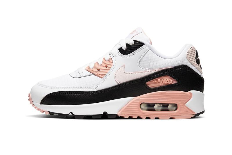 Nike Air Max 90 Monochrome Light Soft Pink Coral Stardust Black White Sneakers Trainers Women's
