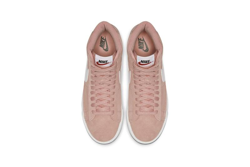 nike blazer mid vintage womens sneakers pink coral white shoes footwear sneakerhead
