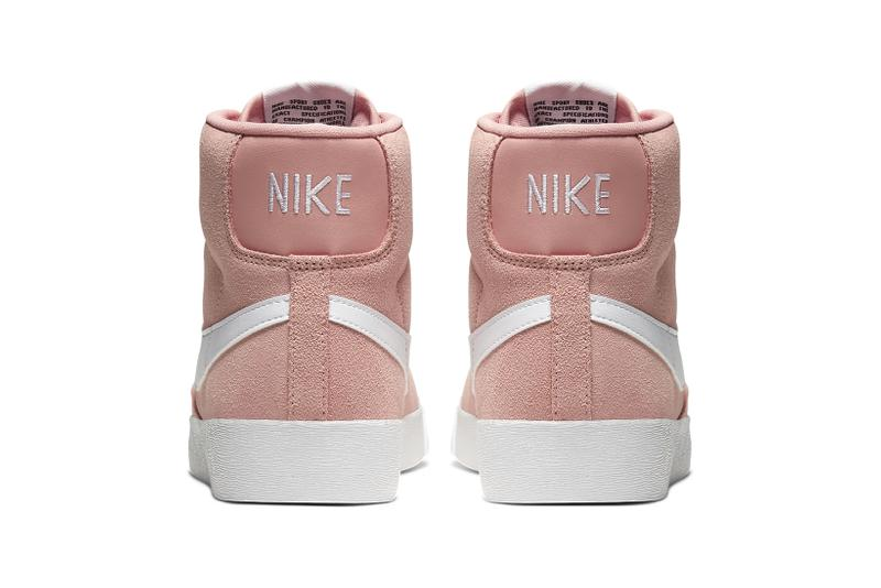 nike blazer mid vintage womens sneakers pink coral white shoes footwear sneakerhead
