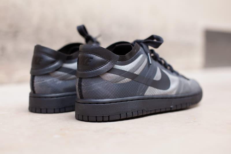 comme des garcons nike dunk low womens sneakers full look cdg paris fashion week rei kawakubo