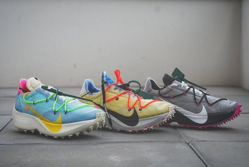 Off-White x Nike Vapor Street Sneaker Release Shoe Collaboration Colorways Drop Date