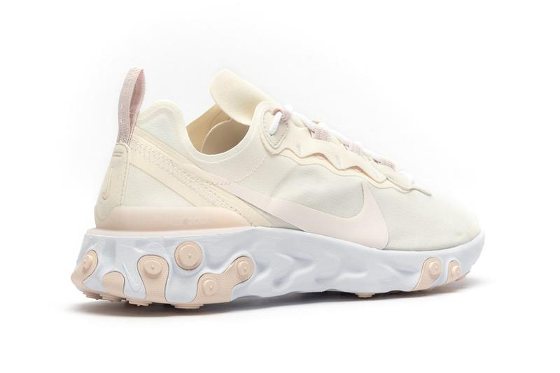 Nike React Element 55 Pale Ivory Light Pink
