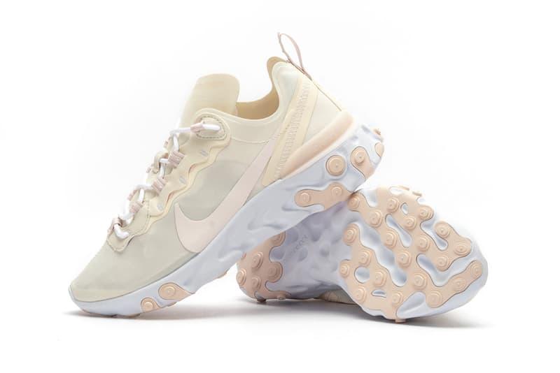 Nike React Element 55 Pale Ivory Light Pink
