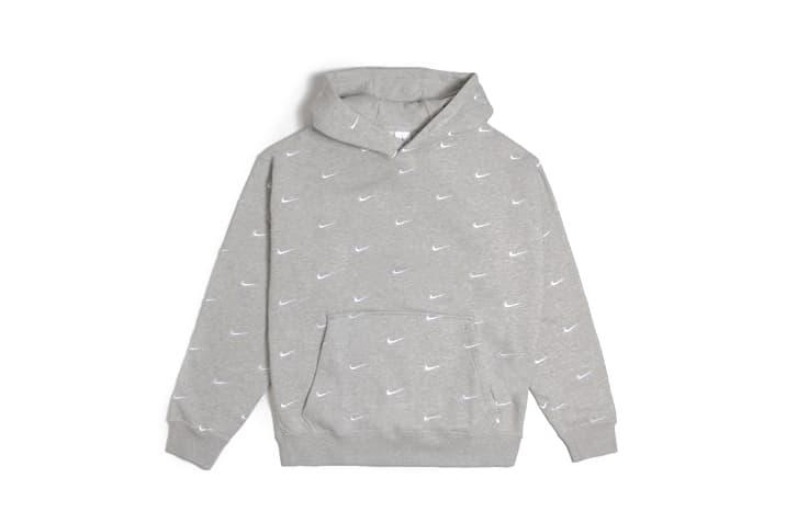Nike Swoosh Logo Hoodie Black Grey Yellow Staple Piece Jacket Fall Winter Layer Sporty Chic Fashion Athleisure
