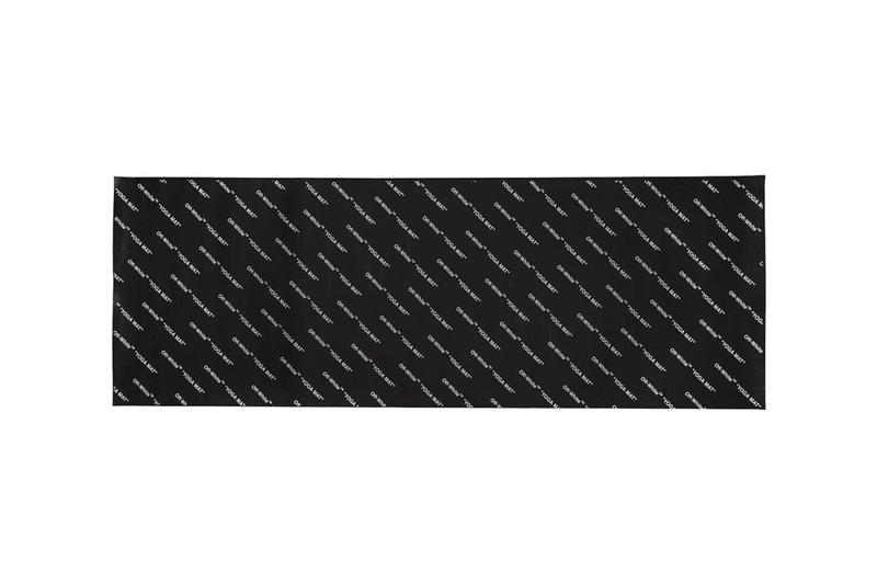 Off-White Logo Yoga Mat Virgil Abloh Accessory Workout Gear Luxury Piece Designer Carpet