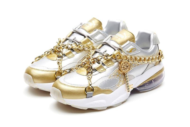 one piece puma cell venom collaboration sneakers white gold silver japanese manga shoes footwear sneakerhead eiichiro oda