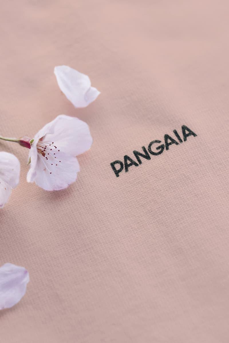 pangaia sakura blossom t shirt pink botanical dye unisex sustainability