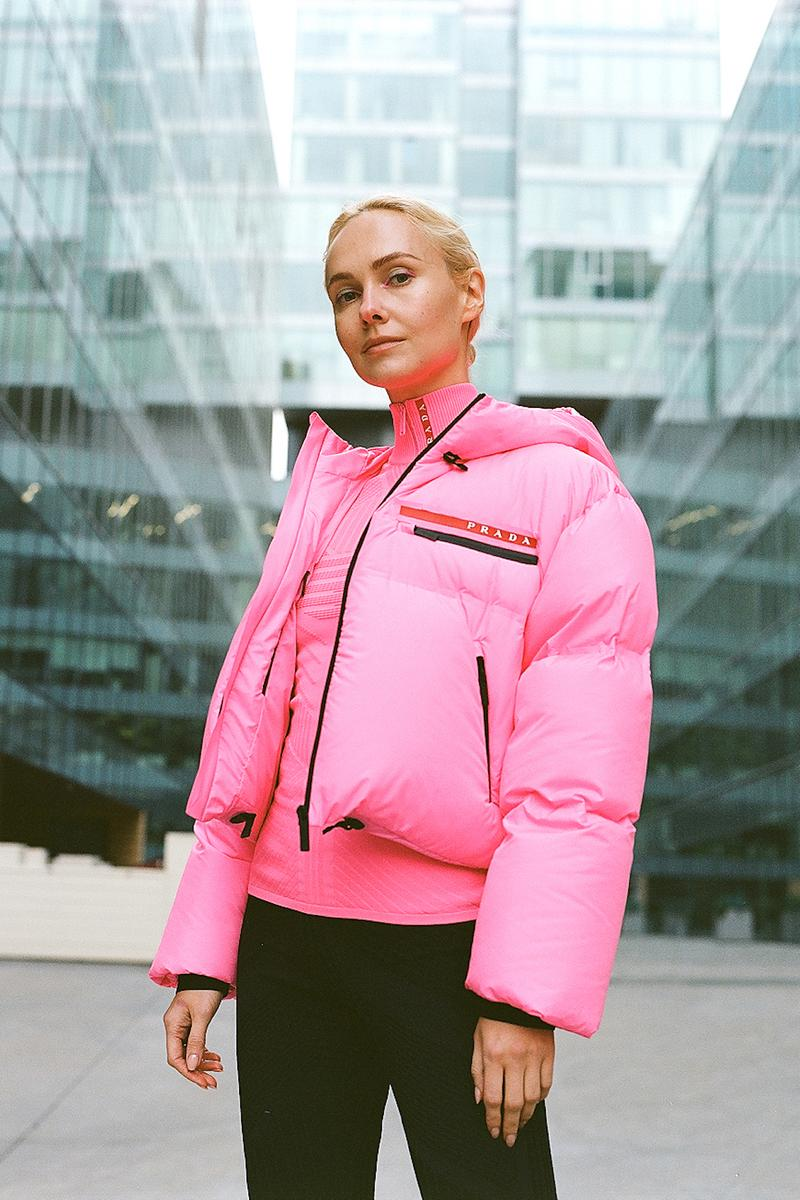 Prada Linea Rossa Fall/Winter 19 Collection Drop Release Olga Karput Luxury Sportswear Range Neon Jackets Logo