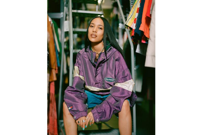 Procell x Tommy Hilfiger Vintage Collection Lookbook Aleali May Purple Windbreaker