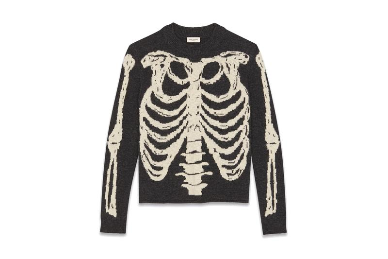 Saint Laurent Halloween Capsule Collection Drop YSL Beauty Candy Anthony Vaccarello Spooky Season Accessories Lighter Skeleton Knit Sweater