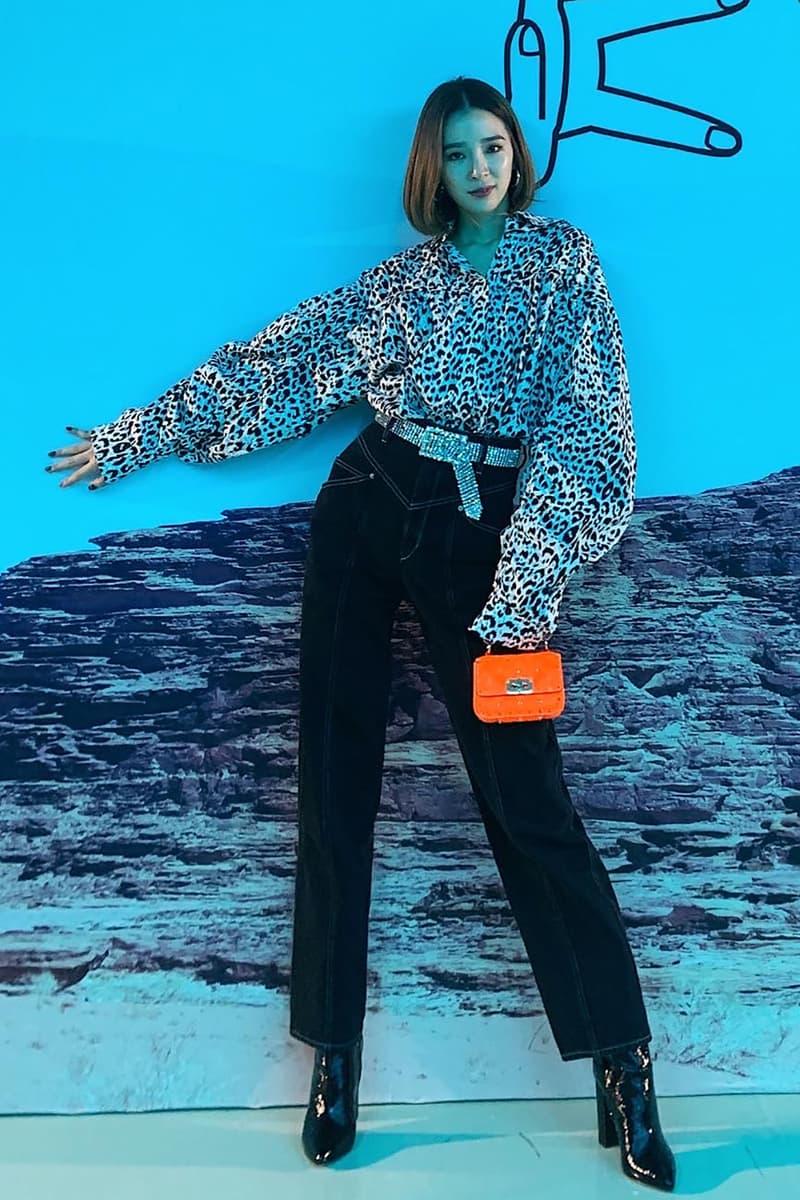 seoul fashion week celebrity street style irene kim clothes jewelry accessories belt