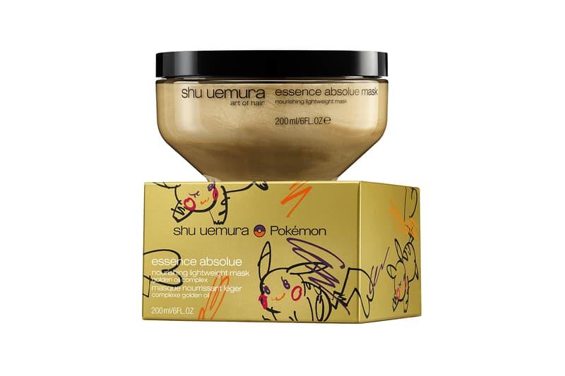 shu uemura pokemon pikachu pikashu haircare collaboration limited edition shampoo hair mask nourishing oil