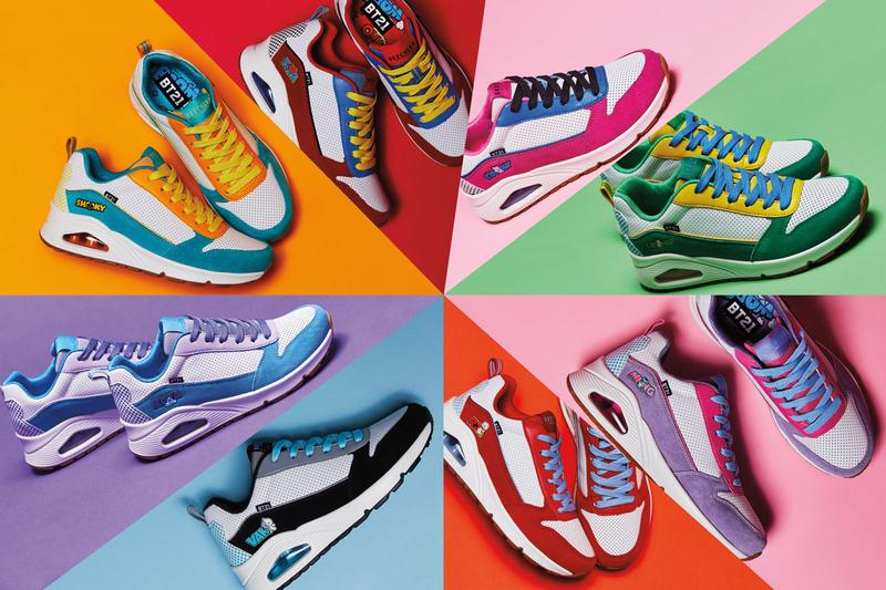skechers bt21 collection release the street uno skechers d'lites 3.0