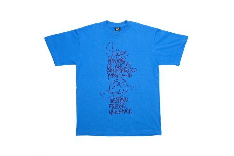 stussy vintage t shirt blue los angeles san francisco portland fresno neweark black archive sale new york pop up uknowhatimeitis