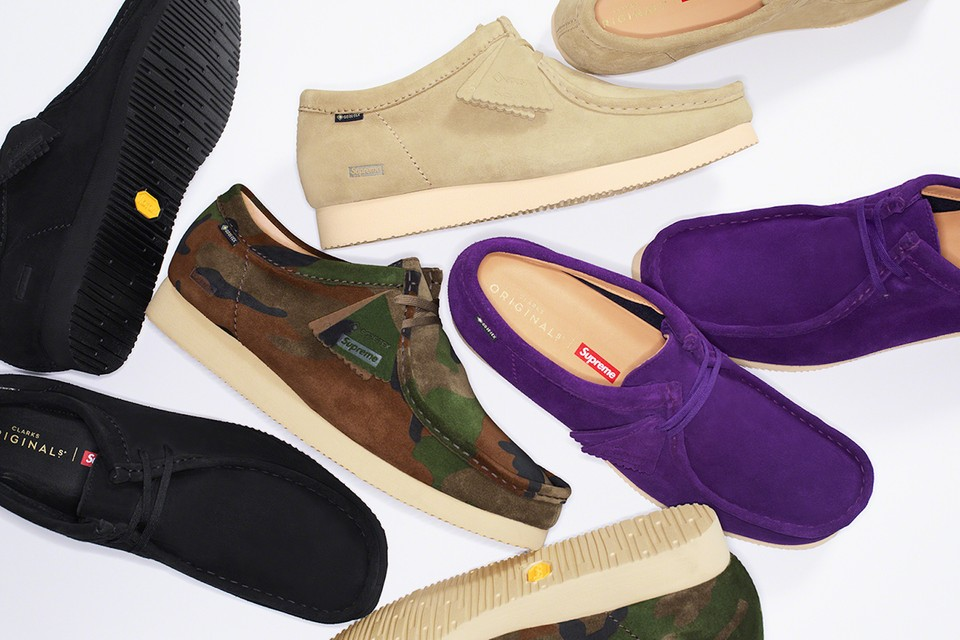 Clarks Originals x Supreme's Wallabee Collab Arrives in a Customized Water-Resistant Design