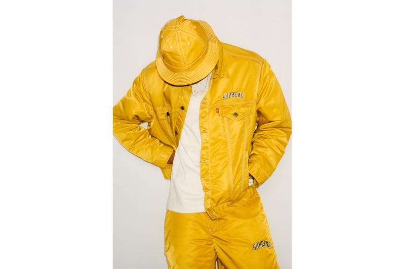 supreme levi fall winter collection yellow jacket bell hat clothes fashion accessories