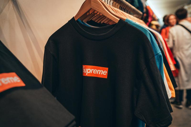 supreme san francisco orange box logo commemorative t shirts clothes fashion