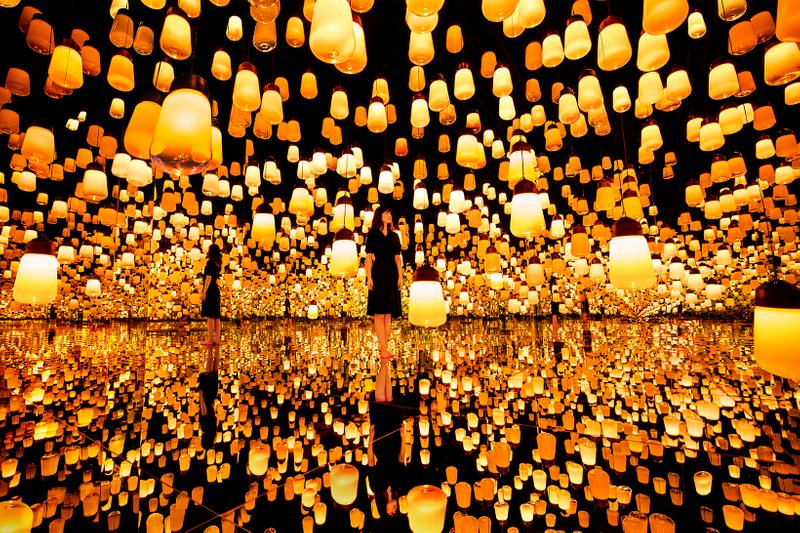 teamLab Borderless Shanghai Forest of Lamps