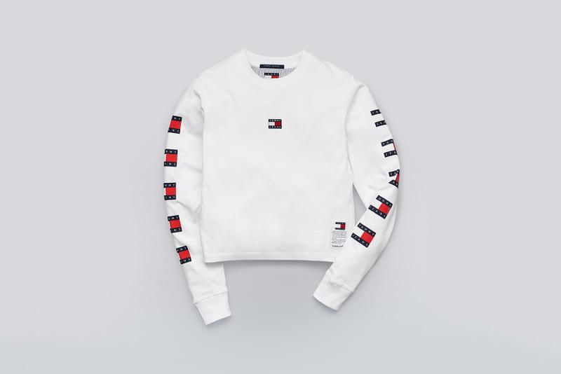 Tommy Jeans Fall 2019 Heritage Collection Long Sleeve T-Shirt Classic White