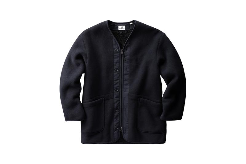 uniqlo engineered garments collaboration fall winter fleece jackets sweaters