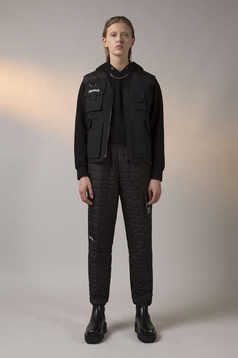 Wasted Paris FW19 Collection Lookbook Quilted Trackpant Veste Tactique Reversible Noir