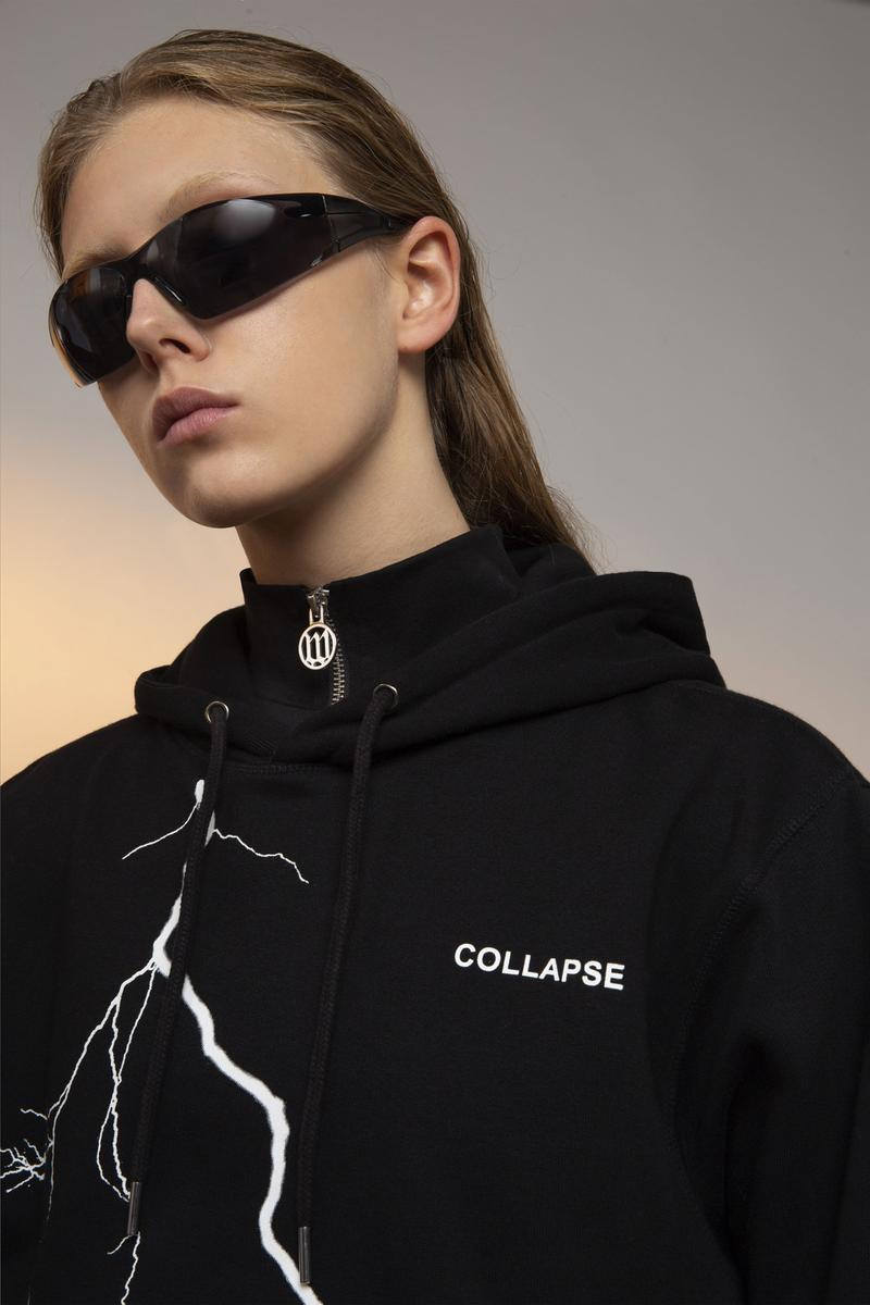 Wasted Paris FW19 Collection Lookbook Collapse Hoodie Noir