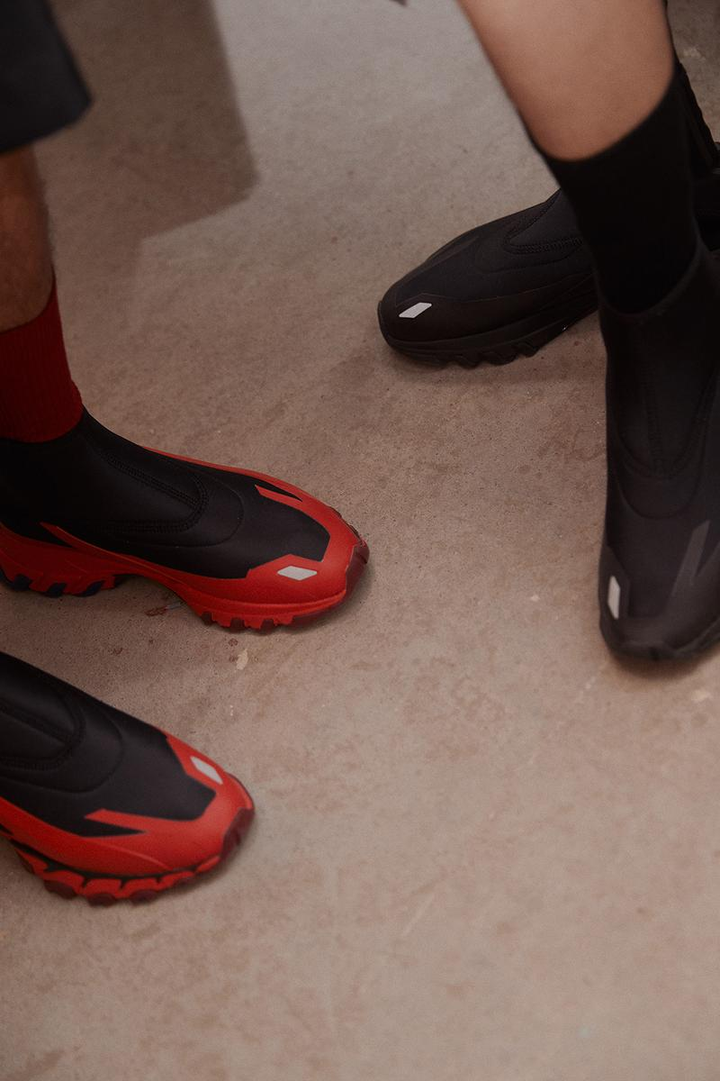 ximonlee reebok dmx trail hydrex sneaker red grey black olive green shoes footwear sneakerhead collaboration shanghai fashion week spring summer 2020