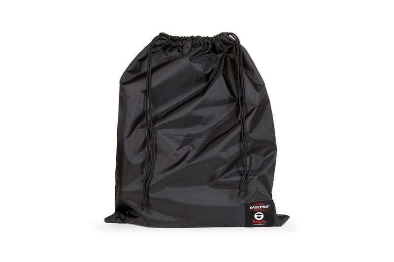 AAPE BAPE x Eastpak Collection Drawstring Backpack Black