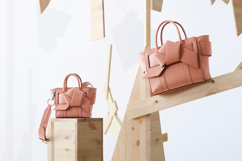 acne studios mulberry collaboration musubi bayswater pink bags