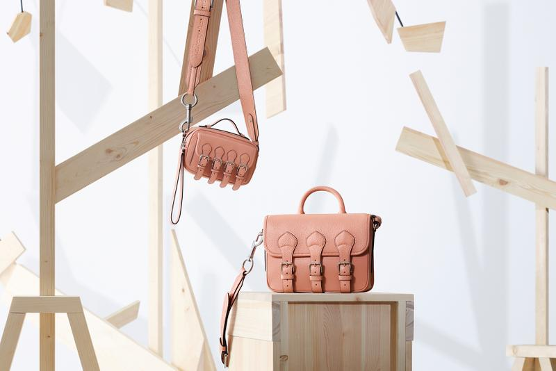 acne studios mulberry collaboration scotchgrain pink bags