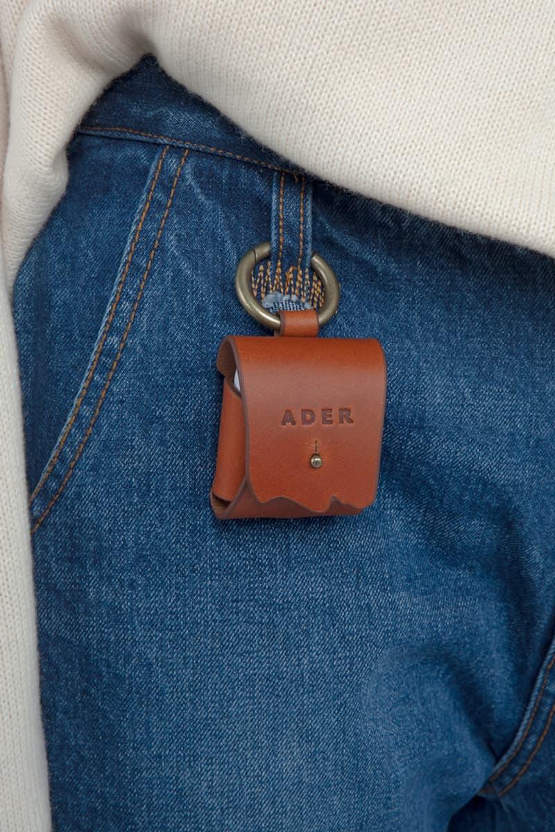 Ader ERROR Apple AirPod Case Leather Rubber Logo Accessory